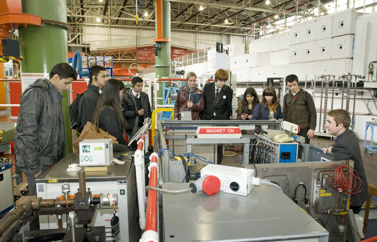 A-level students tour TS1