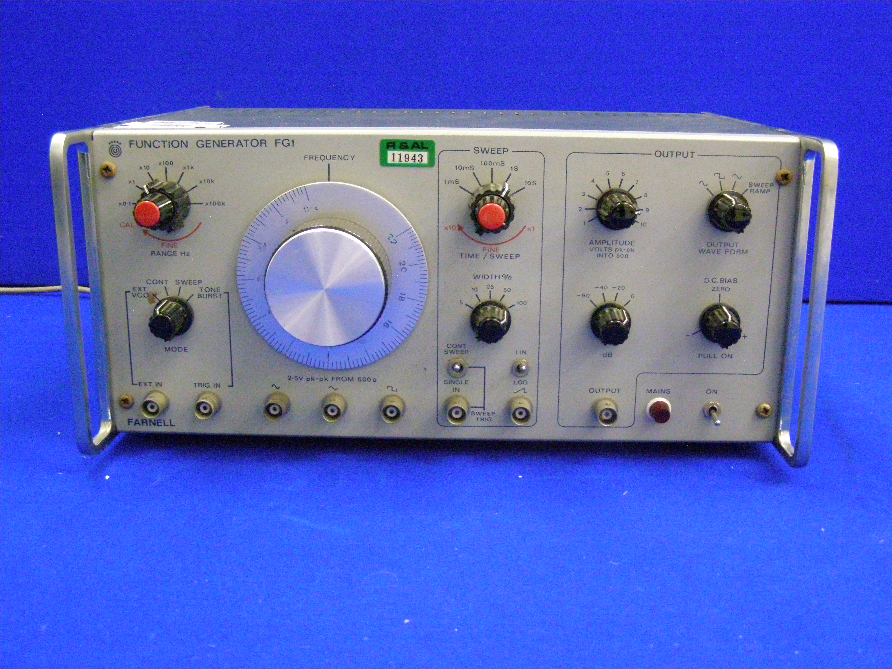 Isis Farnell Function Generator Fg1 20mhz Fuction