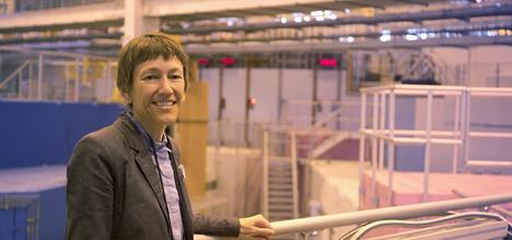 Prof Jacqui Cole at Target Station 2 of the UK's Neutron and Muon  Facility where she experimentally validates her materials.