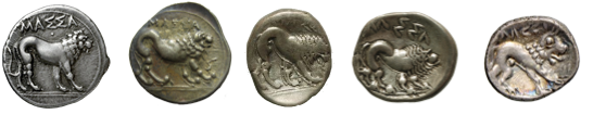 The original heavy drachm of Massalia and Celtic imitations.